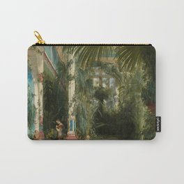 Carl Blechen- The Interior Of The Palm House On The Pfaueninsel Carry-All Pouch