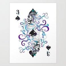 3 of Spade Art Print