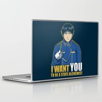 fullmetal alchemist Laptop & iPad Skins featuring I Want You to be a State Alchemist by adho1982