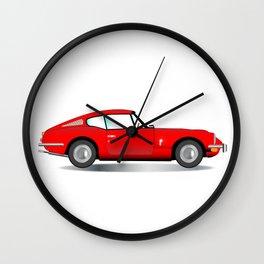 Old Hard Top Sports Car Wall Clock