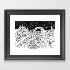 Martian Landscape Framed Art Print
