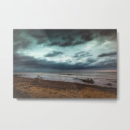 Nature shot - cloudy sky over the sea Metal Print