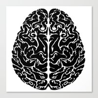 brain Canvas Prints featuring Brain by FractalFox