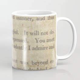 Pride and Prejudice  Vintage Mr. Darcy Proposal by Jane Austen   Coffee Mug