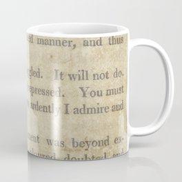 Pride and Prejudice  Vintage Mr. Darcy Proposal by Jane Austen   Coffee Mug