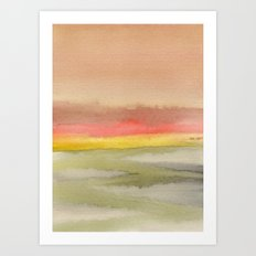 Watercolor abstract landscape 03 Art Print