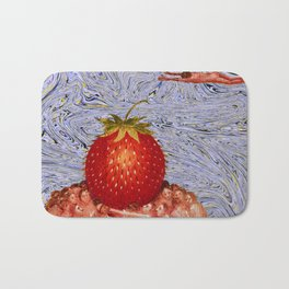 Strawberry in Mind. Bath Mat
