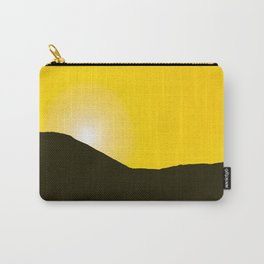Mountain silhuette - sunrise sky - black rockymountain on yellow background - #Society6 #buyart Carry-All Pouch