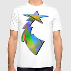 Rainbow Point Mens Fitted Tee White MEDIUM