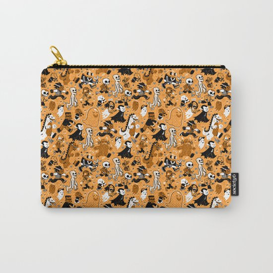 Monster March (Orange) Carry-All Pouch