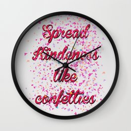 Cute Art Tee for boys and girls perfect for graphic T-shirts, classic tees. Kindness Shirt, Spread K Wall Clock