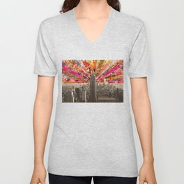 BLOOMING NY Unisex V-Neck