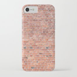 Plain Old Orange Red London Brick Wall iPhone Case