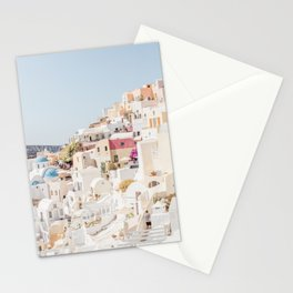 Pastel Oia Stationery Cards
