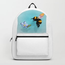 Honey Bee Floating Along with Forget Me Not Backpack