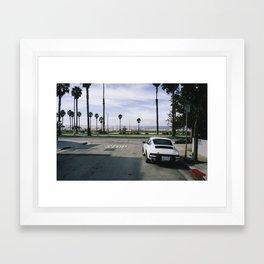 Vintage 911 Carrera Porsch, Venice Beach, Los Angeles, California [Leica M6] Framed Art Print