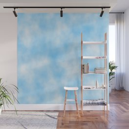 Pale Blue Clouded Art Wall Mural