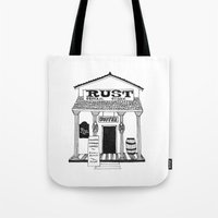 general Tote Bags featuring General Store by Mrs. Ciccoricco