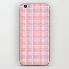 Criss Cross Weave Hand Drawn Vector Pattern Background iPhone Skin