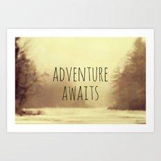 Adventure Awaits II Art Print