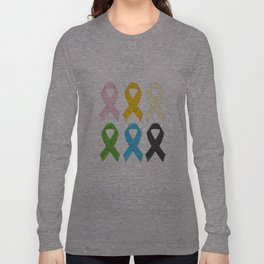 SIx Awareness Ribbons Long Sleeve T-shirt