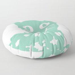 Mint cat drawing, cat drawing Floor Pillow