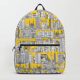 New York yellow Backpack