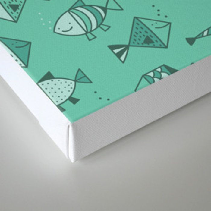Geometric fish Canvas Print