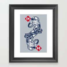 Scratch King Framed Art Print