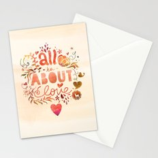 all is about love  Stationery Cards