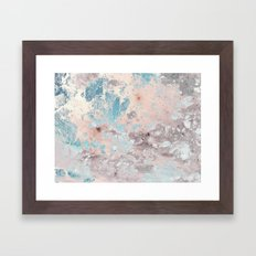 Pastel marble texture Framed Art Print