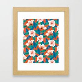 White hibiscus Framed Art Print