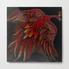 Creature of Fire (The Firebird) Metal Print