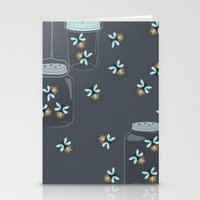 fireflies Stationery Cards featuring Fireflies by Badger & Bee