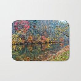 Fall Reflection, Falls Mills, West Virginia Bath Mat