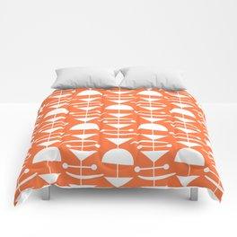 Retro Mid Century Modern Abstract Mobile 653 Orange Comforters
