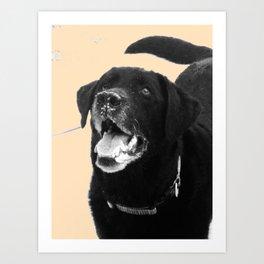 Labrador Happy Art Print