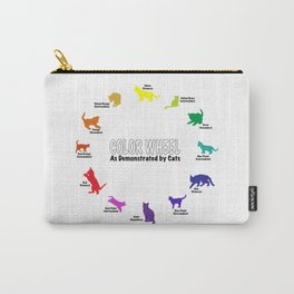Color Wheel, by Cats Carry-All Pouch