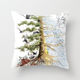 The Woods and The Water Throw Pillow