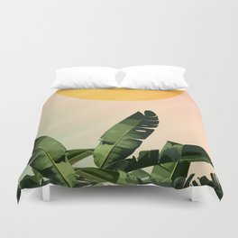 Sunny heliconia Duvet Cover