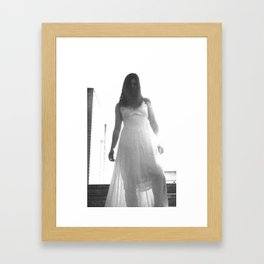 Lady in White (7 of 7) Framed Art Print