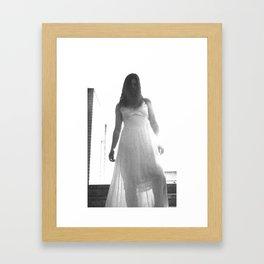 Lady in White (7 of 7) Framed Art Print