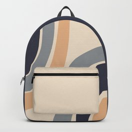 Abstract Shapes 51 in Desert mist Ultimate grey Inkwell Buttercream (Rainbow Abstraction) Backpack