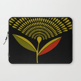 Mid Century Modern Dandelion Seed Head In Aspen Gold Laptop Sleeve