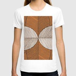 Minimal Tropical Leaf - Africa Tones T-shirt