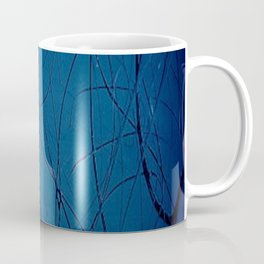 Navy Blue - Jackson Pollock Style Art - Abstract - Expressionism - Corbin Henry Coffee Mug