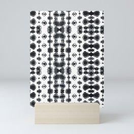 Shibori Ikat Habotoi BW Mini Art Print