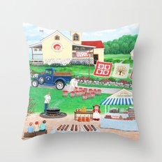 Aunt Abby's Apples Throw Pillow