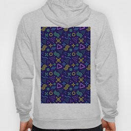 Retro 80s Shapes Pattern Hoody