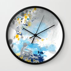 a room with view from asteroid B 612 _ the little prince Wall Clock